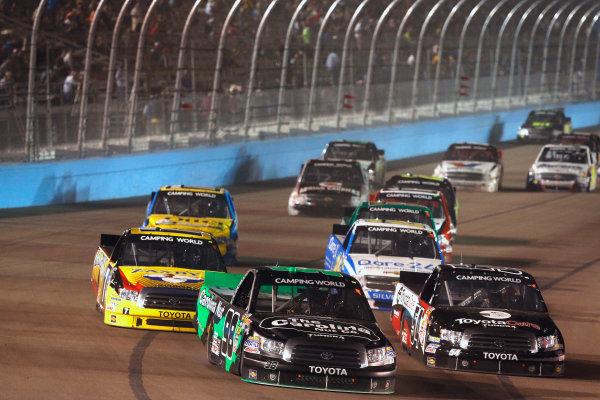 7-8 November, 2013, Fort Worth, Texas, USA Johnny Sauter races with Darrell Wallace Jr. © 2013, Michael L. Levitt LAT Photo USA