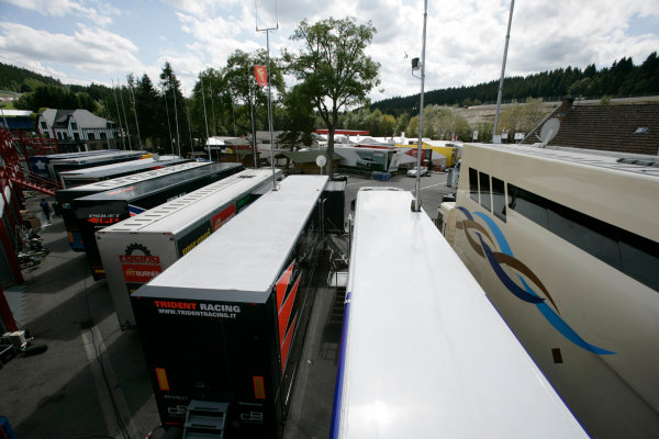 Spa-Francorchamps, Spa, Belgium 27th August 2009.Thursday Preview.GP2 Paddock. Atmosphere. World Copyright: Alastair Staley / GP2 Series Media Service.Ref: _P9O1603 jpg