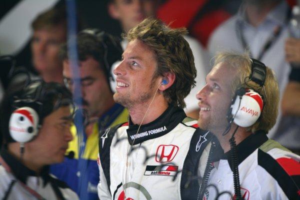 2005 Italian Grand Prix - Friday Practice,Monza, Italy. 2nd September 2005 Jenson Button, BAR Honda 007.World Copyright: Steve Etherington/LAT Photographic ref: 48mb Hi Res Digital Image