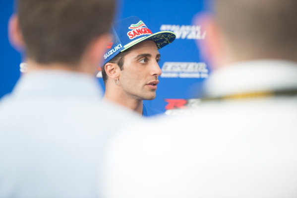 2017 MotoGP Championship - Round 8 Assen, Netherlands Thursday 22 June 2017 Andrea Iannone, Team Suzuki MotoGP World Copyright: Gold and Goose Photography/LAT Images ref: Digital Image MotoGP-300-10536