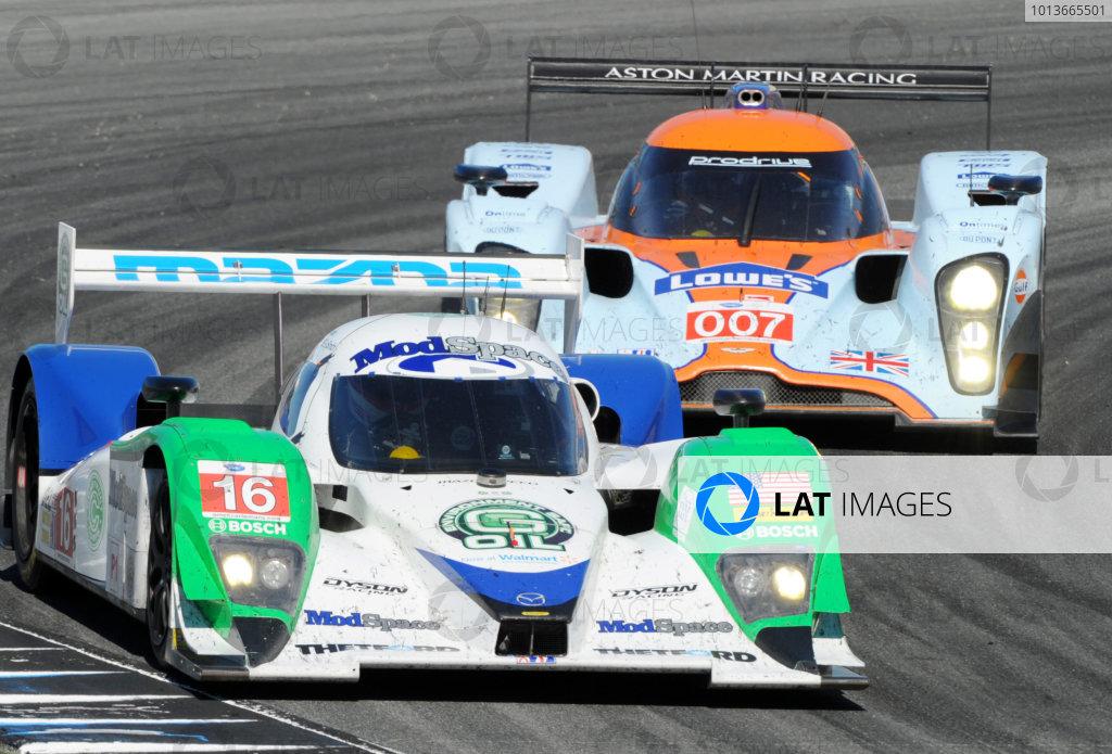 16-18 September, 2011, Monterey, California USA#16 Dyson Racing Team Mazda Lola B09/86 and #007 Aston Martin.(c)2011,  Dan R. Boyd  LAT Photo USA