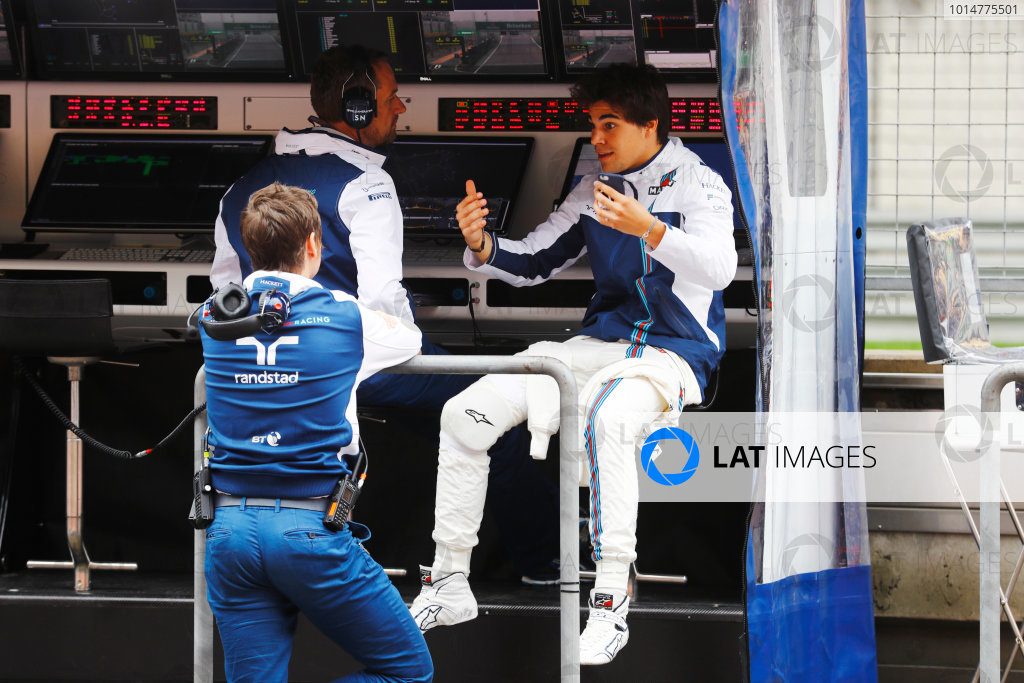 Shanghai International Circuit, Shanghai, China.  Friday 07 April 2017. Lance Stroll, Williams Martini Racing. World Copyright: Steven Tee/LAT Images ref: Digital Image _R3I2523