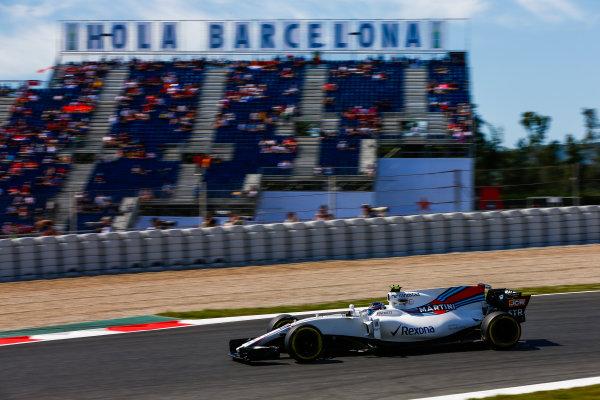 Circuit de Catalunya, Barcelona, Spain. Saturday 13 May 2017. Lance Stroll, Williams FW40 Mercedes. World Copyright: Andy Hone/LAT Images ref: Digital Image _ONZ4957