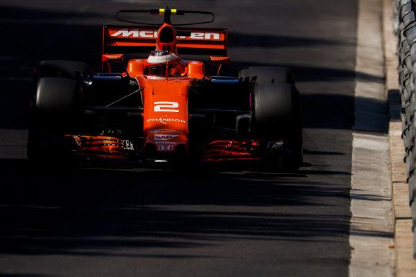 Monte Carlo, Monaco. Saturday 27 May 2017. Stoffel Vandoorne, McLaren MCL32 Honda. World Copyright: Glenn Dunbar/LAT Images ref: Digital Image _X4I8635