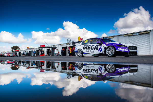 2017 Supercars Championship Round 5.  Winton SuperSprint, Winton Raceway, Victoria, Australia. Friday May 19th to Sunday May 21st 2017. Jason Bright drives the #56 MEGA Racing Ford Falcon FG-X. World Copyright: Daniel Kalisz/LAT Images Ref: Digital Image 200517_VASCR5_DKIMG_5202.NEF