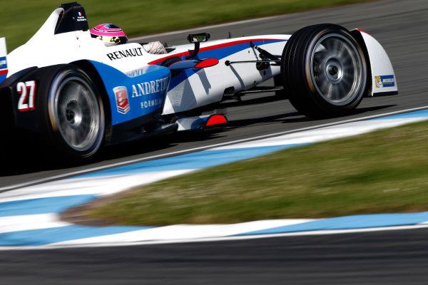 FIA Formula E Test Day, Donington Park, UK.  9th - 10th July 2014.  Franck Montagny, Andretti Autosport. Photo: Glenn Dunbar/FIA Formula E ref: Digital Image _89P4681