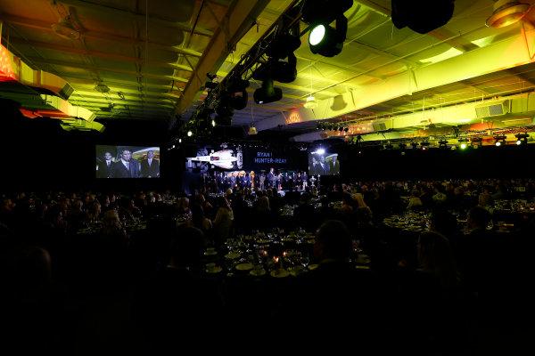 6 December, 2012, Indianapolis, Indiana, USA Ryan Hunter-Reay speaks.(c) 2012, Michael L. Levitt LAT Photo USA