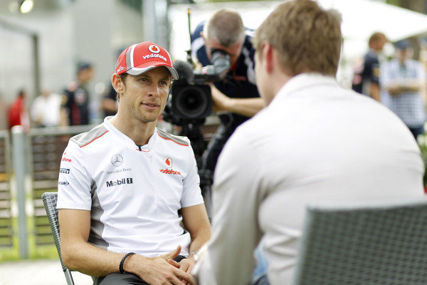 Albert Park, Melbourne, Australia15th March 2012.Jenson Button, McLaren. World Copyright:Andrew Ferraro/LAT Photographicref: Digital Image _Q0C8653