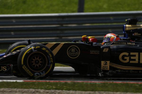Romain Grosjean (FRA) Lotus E23 Hybrid at Formula One World Championship, Rd8, Austrian Grand Prix, Race, Spielberg, Austria, Sunday 21 June 2015.