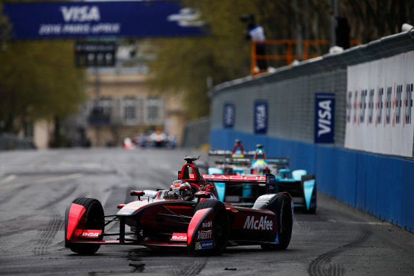 2015/2016 FIA Formula E Championship. Paris ePrix, Paris, France. Saturday 23 April 2016. Jerome D'Ambrosio (FRA) Dragon Racing - Venturi VM200-FE-01. Photo: Glenn Dunbar/LAT/Formula E ref: Digital Image _W2Q2225