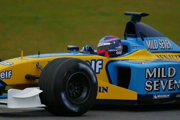 Franck Montagny (FRA) makes his debut in the Renault R202. Formula One Testing , 12 - 15 December 2002 Jerez, Spain. DIGITAL IMAGE