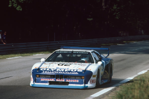 1982 Le Mans 24 hours. Le Mans, France. 19th - 20th June 1982. Steve O'Rourke / Richard Down / Nick Mason (BMW M1), retired, action World Copyright: LAT Photographic. Ref: 82LM27.