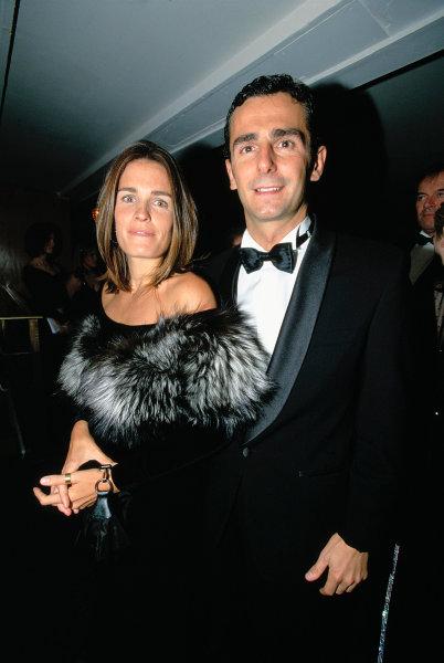 2003 Autosport AwardsGrosvenor Hotel, London, EnglandPedro de la Rosa and his wife. Portrait.World Copyright: Bellanca/LATref: 35mm Transparency (30mb scan)