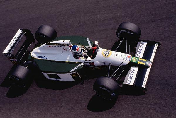 1991 Italian Grand Prix. Monza, Italy. 6-8 September 1991. Mika Hakkinen (Lotus 102B Judd). Ref-91 ITA 28. World Copyright - LAT Photographic