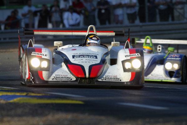 2004 Le Mans 24 Hours.Le Mans, France. 12th-13th June 2004.Ara/Capello/Kristensen (Team Goh Audi R8) action.World Copyright: John Tingle/LAT Photographicref: Digital Image Only