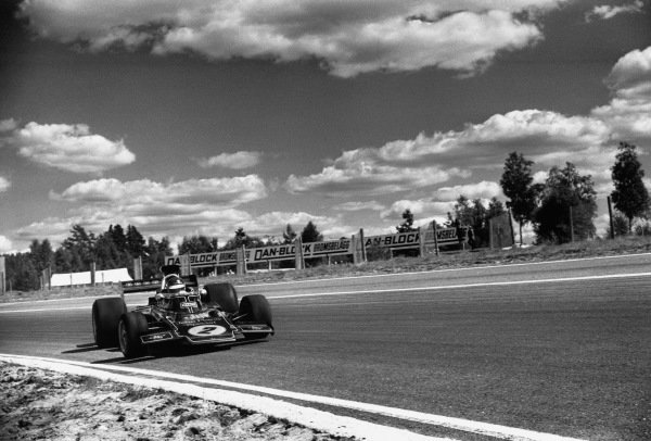 Anderstorp, Sweden. 17 June 1973.Ronnie Peterson, (Lotus 72D-Ford), 2nd position, action.World Copyright: LAT PhotographicRef: L73 - 996 - 26A.