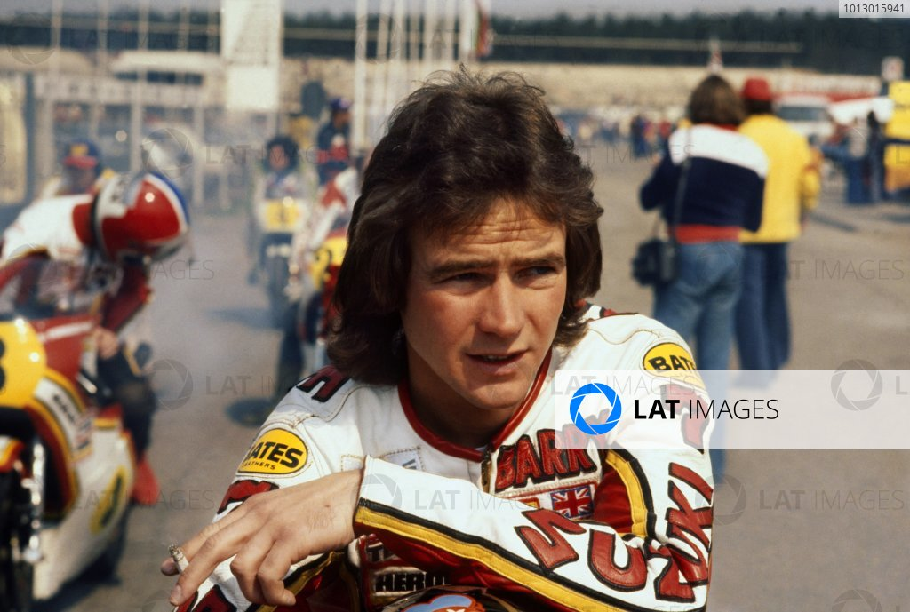 1977 FIM 500cc World Championship. British Grand Prix. Silverstone, England. 13-14 August 1977. Barry Sheene (Team Heron Suzuki). Ref-SHEENE 03. World Copyright - LAT Photographic