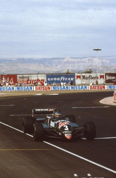 Las Vegas, Nevada, USA.23-25 September 1982.Michele Alboreto (Tyrrell 011 Ford) 1st position.Ref-82 LV 14.World Copyright - LAT Photographic
