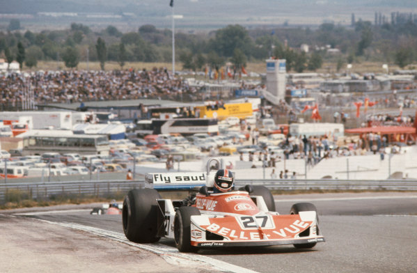 Jarama, Spain. 6-8th May 1977. Patrick Neve, March 761 Ford, 12th position. First race for Williams Grand Prix Engineering.  Ref: 77ESP35. World Copyright: LAT Photographic