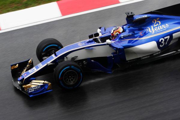 Sepang International Circuit, Sepang, Malaysia. Friday 29 September 2017. Charles Leclerc, Sauber C36 Ferrari.  World Copyright: Zak Mauger/LAT Images  ref: Digital Image _56I0383