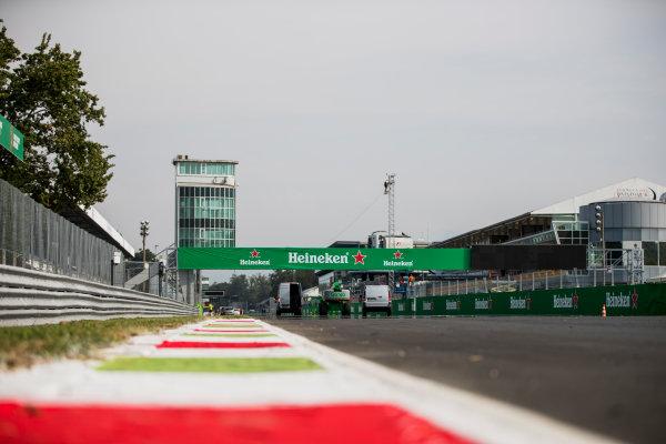 2017 FIA Formula 2 Round 9. Autodromo Nazionale di Monza, Monza, Italy. Thursday 31 August 2017. A view of the start/finish straight. Photo: Zak Mauger/FIA Formula 2. ref: Digital Image _54I4850