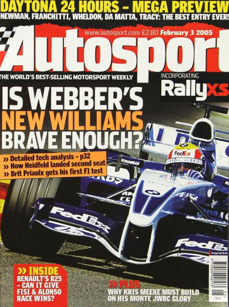 Cover of Autosport magazine, 3rd February 2005