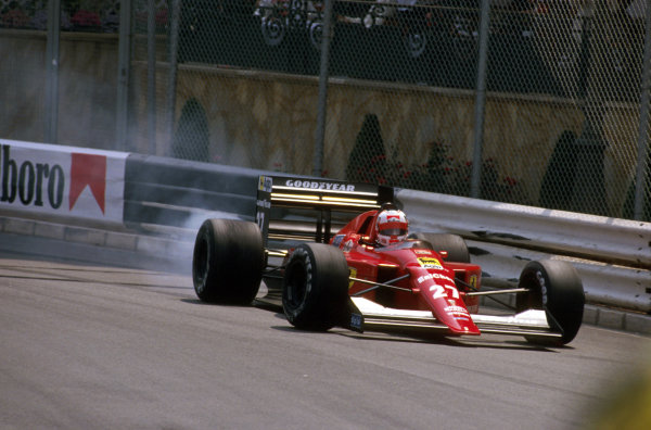 Monte Carlo, Monaco.4-7 May 1989.Nigel Mansell (Ferrari 640). He failed to finish due to gearbox problems.Ref-89 MON 19.World Copyright - LAT Photographic