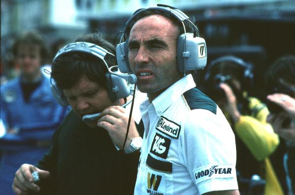 1980 British Grand Prix.Brands Hatch, England.11-13 July 1980.Frank Williams and Patrick Head.World Copyright - LAT Photographic