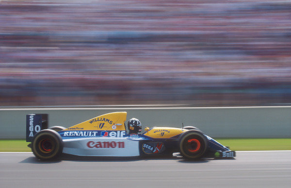 1993 French Grand Prix.Magny-Cours, France.2-4 July 1993.Damon Hill (Williams FW15C Renault) 2nd position.Ref-93 FRA 01.World Copyright - LAT Photographic
