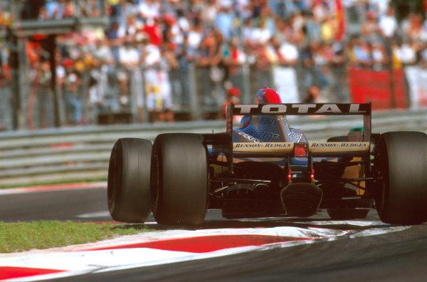 Monza, Italy.6-8 September 1996.Rubens Barrichello (Jordan 196 Peugeot) 5th position.Ref-96 ITA 21.World Copyright - LAT Photographic