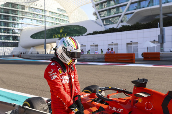 Sebastian Vettel, Ferrari, crashes in FP1