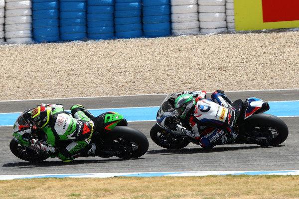 Sandro Cortese, Outdo Kawasaki TPR, Eugene Laverty, BMW Motorrad WorldSBK Team.