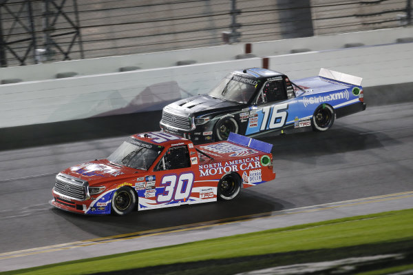 #30: Danny Bohn, On Point Motorsports, Toyota Tundra North American Motor Car, #16: Austin Hill, Hattori Racing Enterprises, Toyota Tundra SiriusXM
