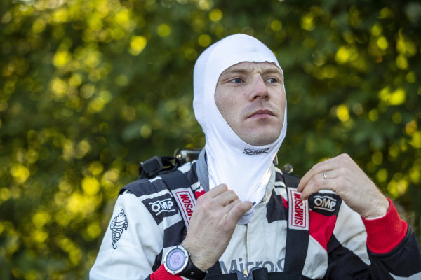 Jari-Matti Latvala prepares for action on Rallye Deutschland