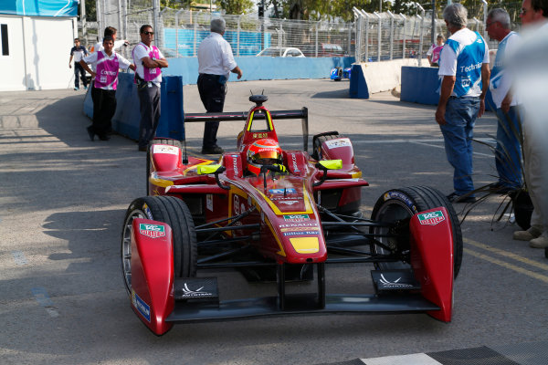 Buenos Aires e-Prix Race. Nelson Piquet Jr (BRA)/China Racing - Spark-Renault SRT_01E  FIA Formula E World Championship. Buenos Aires, Argentina, South America. Saturday 10 January 2015.  Copyright: Adam Warner / LAT / FE ref: Digital Image _L5R7177