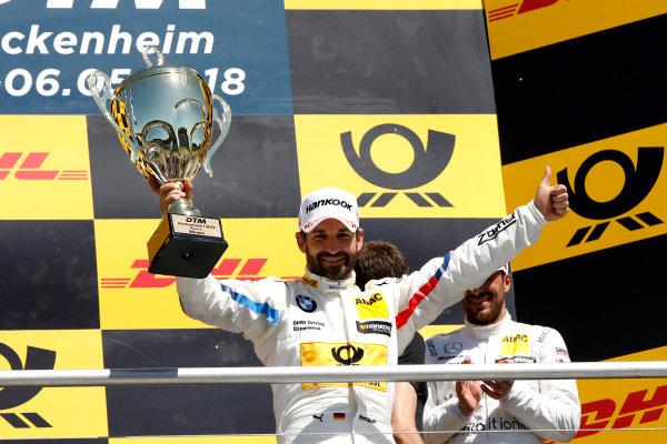 Podium: Race winner Timo Glock, BMW Team RMG.