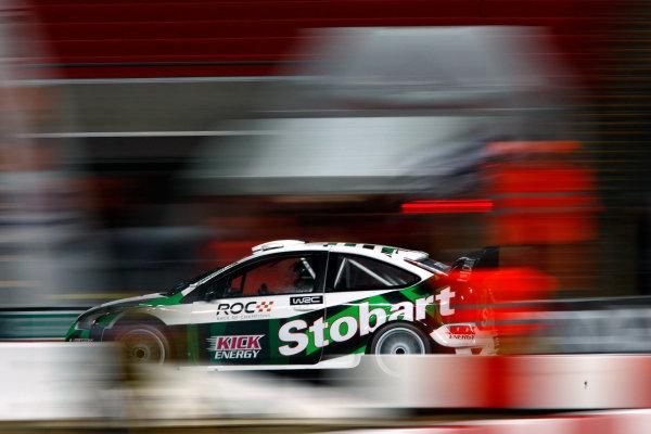 Wembley Stadium, London.  13th December 2008. Ford Focus WRC 08 Action. World Copyright: Andrew Ferraro/LAT Photographic ref: Digital Image _H0Y8404