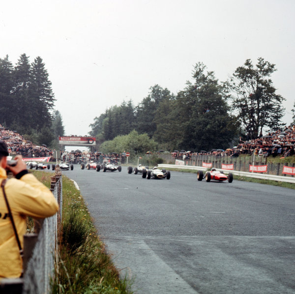 Nurburgring, Germany.5-7 August 1966.The start.Ref-3/2333.World Copyright - LAT Photographic