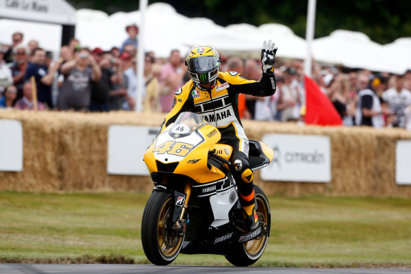 2015 Goodwood Festival of Speed Goodwood Estate, West Sussex, England. 25th - 28th June 2015. Valentino Rossi. World Copyright: Alastair Staley/LAT Photographic ref: Digital Image_R6T1492