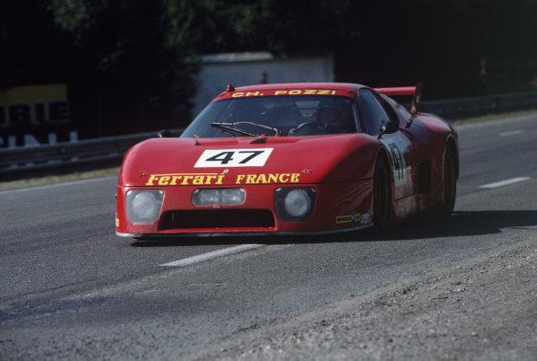 1981 Le Mans 24 Hours. Le Mans, France. 13th - 14th June 1981. Jean-Claude Andruet / Claude Ballot-Lena (Ferrari 512 BB/LM), 5th position, action.  World Copyright: LAT Photographic. Ref: 81LM20.