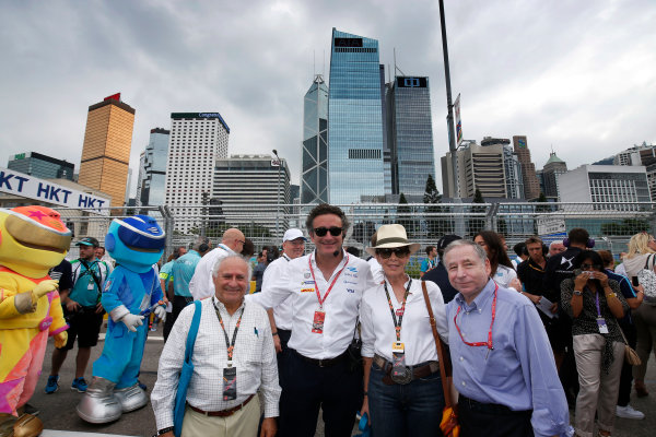 FIA Formula E Hong Kong e-Prix. The Race. Alejandro Agag and Jean Todt. Hong Kong Harbour, Hong Kong, Asia. Sunday 9 October 2016. Photo: Adam Warner / FE / LAT ref: Digital Image _L5R8024
