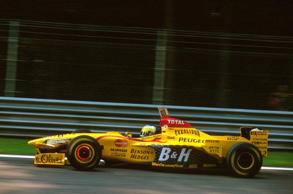 Monza, Italy.5-7 September 1997.Giancarlo Fisichella (Jordan 197 Peugeot) 4th position.Ref-97 ITA 10.World Copyright - LAT Photographic