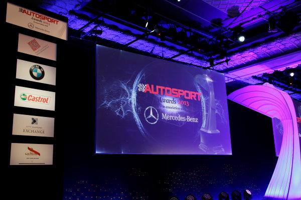 2013 Autosport Awards. Grosvenor House Hotel, Park Lane, London. Sunday 1st December 2013. The stage. World Copyright: Glenn Dunbar/LAT Photographic. ref: Digital Image _MG_9883