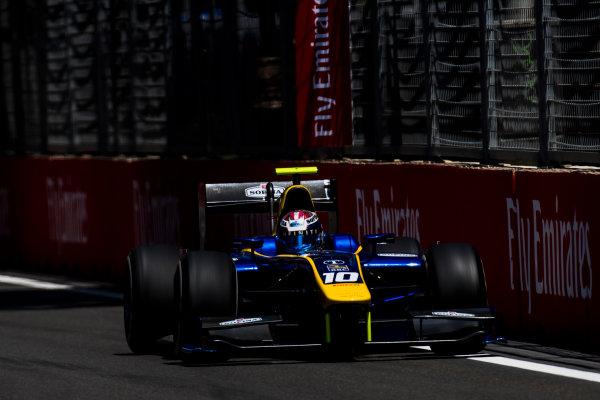 2017 FIA Formula 2 Round 4. Baku City Circuit, Baku, Azerbaijan. Friday 23 June 2017. Nicholas Latifi (CAN, DAMS)  Photo: Zak Mauger/FIA Formula 2. ref: Digital Image _54I9771