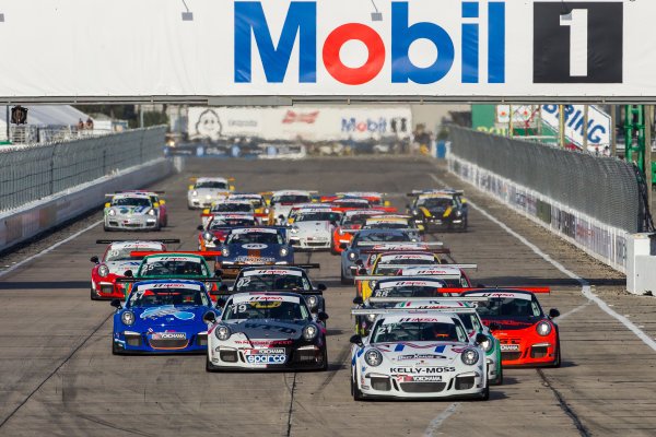 16-18 March, 2016, Sebring, Florida, USA GT3 Cup USA Race 2 Start ?2016, Jake Galstad LAT Photo USA
