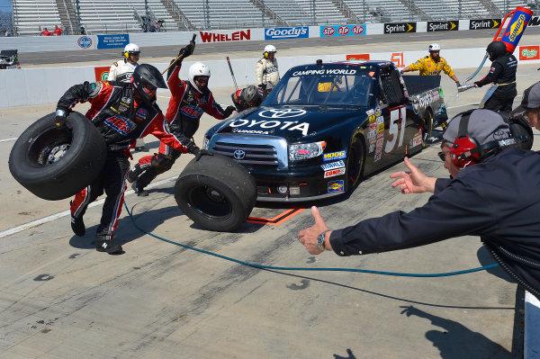 April 5-6, 2013 Martinsville, Virginia USA Erik Jones pitstop © 2013, Brian Czobat LAT Photo USA .