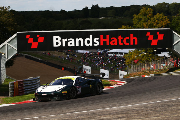 2017 British GT Championship, Brands Hatch, 5th-6th August 2017, Duncan Cameron / Matt Griffin Spirit of Race Ferrari 488  World Copyright. JEP/LAT Images