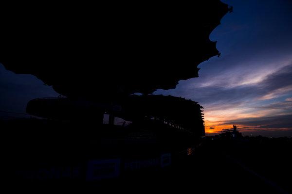 Sepang International Circuit, Sepang, Malaysia. Friday 29 September 2017. Sun rises at the Sepang Circuit. World Copyright: Zak Mauger/LAT Images  ref: Digital Image _56I2086