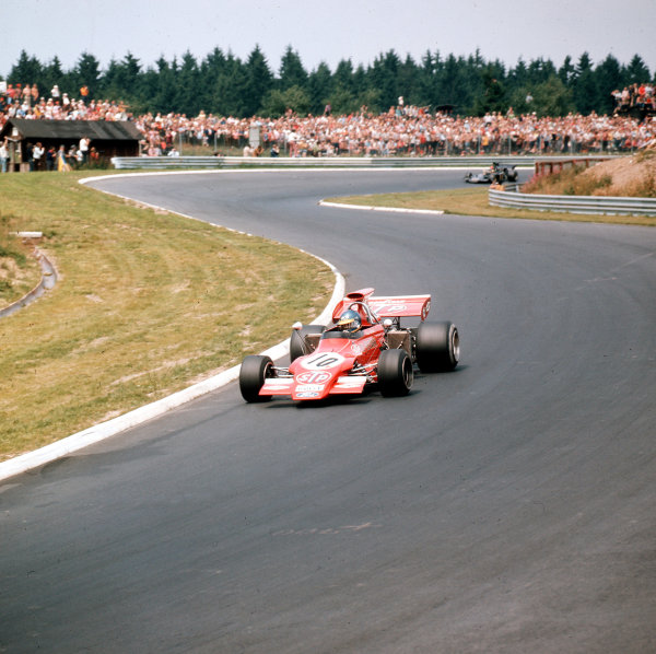 Nurburgring, Germany.28-30 July 1972.Ronnie Peterson (March 721G Ford) 3rd position.Ref-3/5126L.World Copyright - LAT Photographic