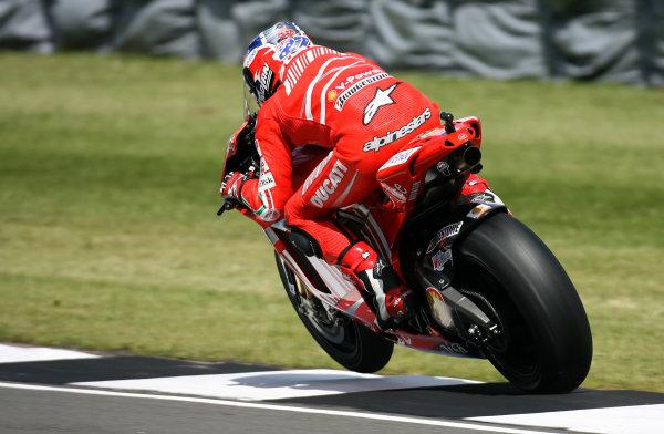 Donington Park, England. 22nd June 2008.MotoGP Race.Casey Stoner Marlboro Ducati Team.World Copyright: Martin Heath/ LAT Photographicref: Digital Image